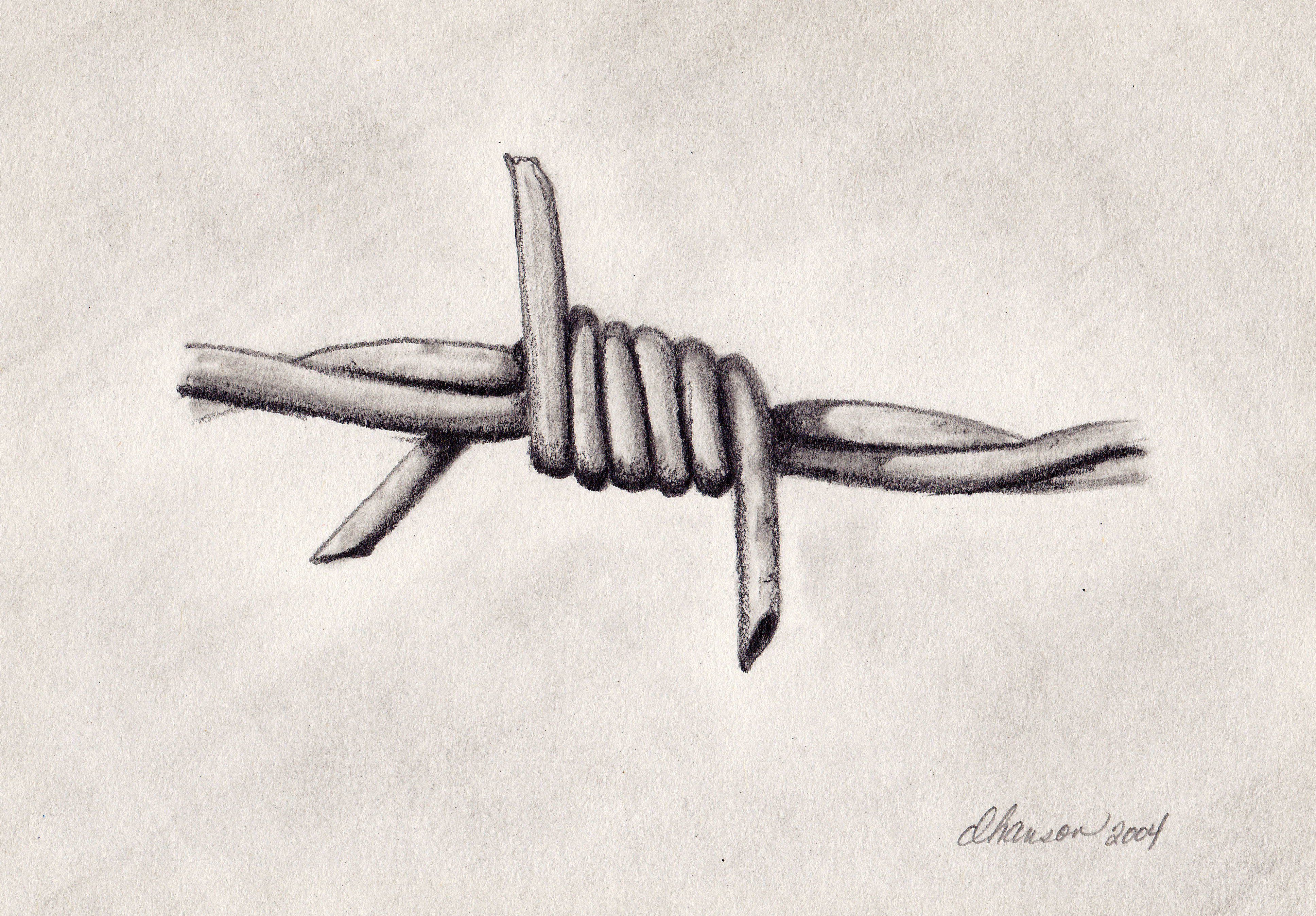 Simple Barbed Wire Drawing simple barbed wire drawing